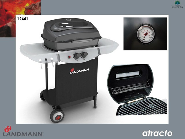 landmann atracto 12441 gasgrill grill grillwagen lavastein twin use ebay. Black Bedroom Furniture Sets. Home Design Ideas