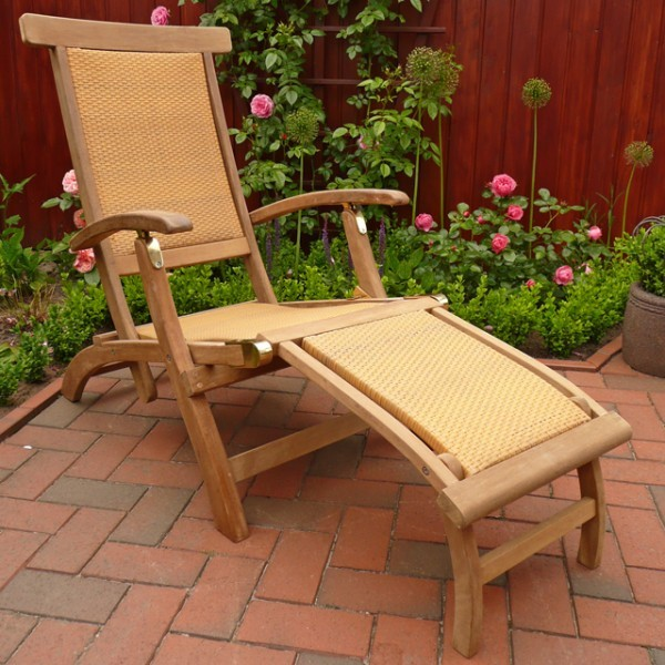 belardo liegestuhl holz rattan deckchair sonnenliege gartenm bel fsc qualit t ebay. Black Bedroom Furniture Sets. Home Design Ideas