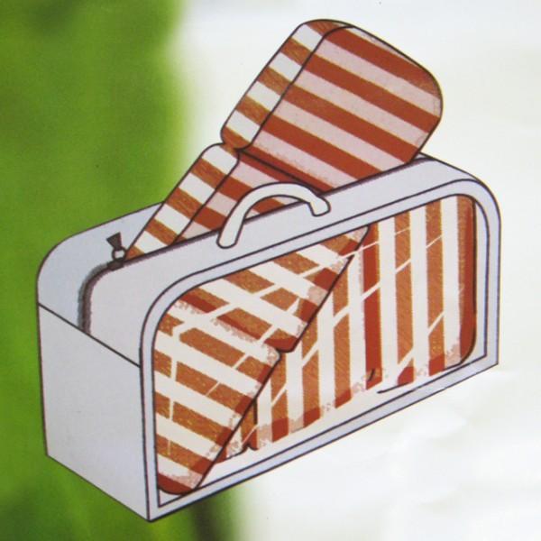 Netto Gartenmobel Rattan :  Auflagen 125x32x50cm Schutzhülle Auflagen Auflagenbox – Bild 2