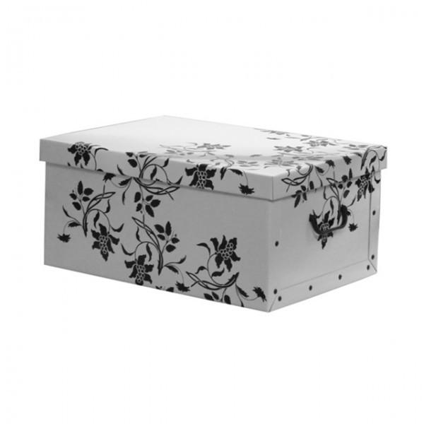 stabile aufbewahrungsbox mit deckel weiss 51x37x24 aufbewahrungskiste box kiste. Black Bedroom Furniture Sets. Home Design Ideas