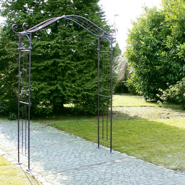 metall rosenbogen anthrazit entree 239cm gartentor torbogen pergola rosengitter ebay. Black Bedroom Furniture Sets. Home Design Ideas