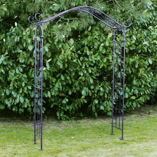 rosenbogen entree 239cm metall gartentor torbogen garten rosengitter anthrazit ebay. Black Bedroom Furniture Sets. Home Design Ideas