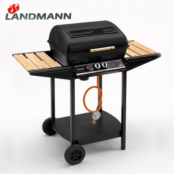 landmann lavastein gasgrill incl druckminderer grill holzablagen thermostat ebay. Black Bedroom Furniture Sets. Home Design Ideas