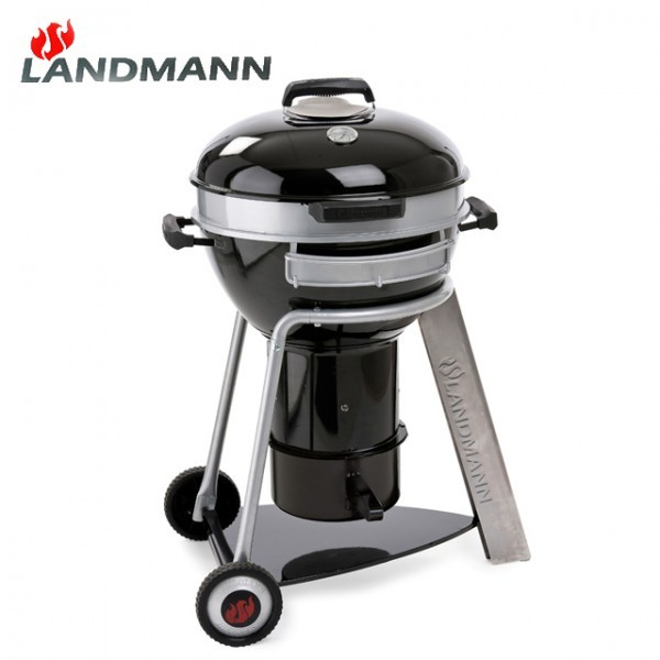 landmann 31341 black pearl comfort kugelgrill 46cm fahrbar grill b ware neu ebay. Black Bedroom Furniture Sets. Home Design Ideas