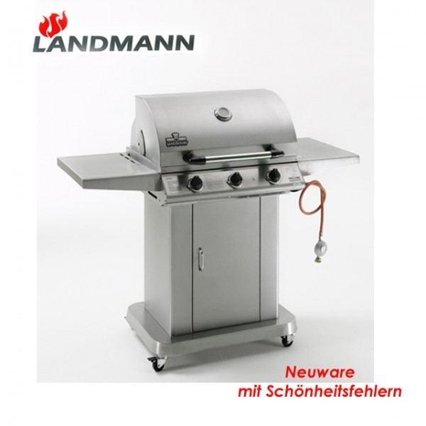 landmann edelstahl gasgrill 12713 bbq grillk che gas grillwagen b ware grill neu. Black Bedroom Furniture Sets. Home Design Ideas
