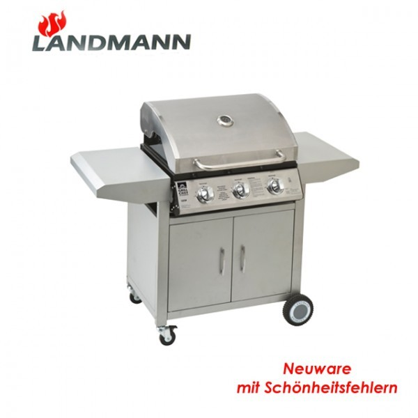 landmann gasgrill 12739 grill edelstahl grillk che gas grillwagen b ware neu ebay. Black Bedroom Furniture Sets. Home Design Ideas