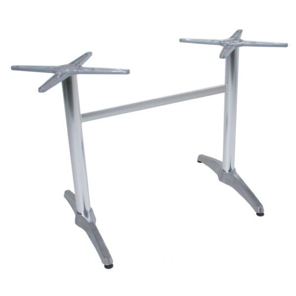 brenta tischgestell bistrotisch alu tisch gestell doppelwangen 2 gastronomie tische gestelle. Black Bedroom Furniture Sets. Home Design Ideas