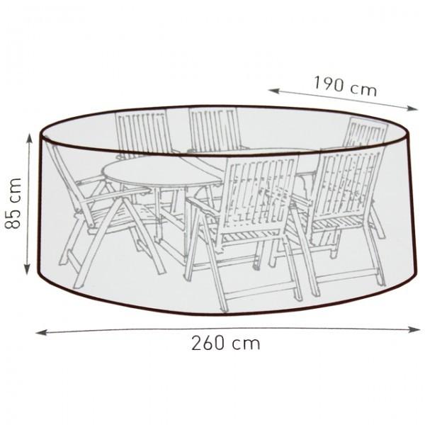 Netto Gartenmobel Rattan : Belardo Wasserdichte Schutzhülle Gartenmöbel Abdeckung 260cm