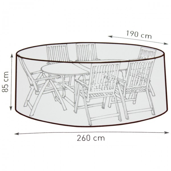 Gartenmobel Rattan Weis : Belardo Wasserdichte Schutzhülle Gartenmöbel Abdeckung 260cm