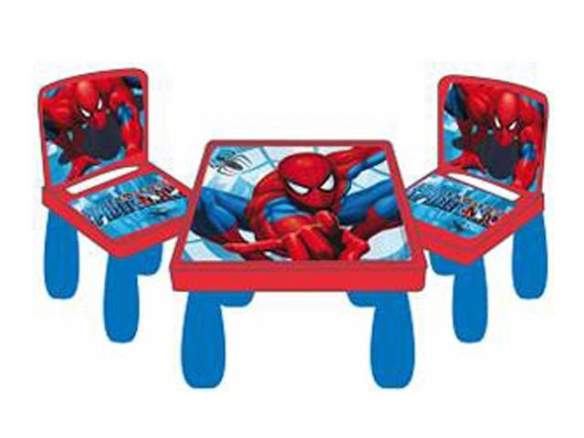 spiderman kindersitzgruppe robust kindertisch mit st hle. Black Bedroom Furniture Sets. Home Design Ideas