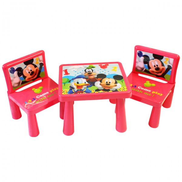 mickey mouse kindersitzgruppe kindertisch mit st hle. Black Bedroom Furniture Sets. Home Design Ideas