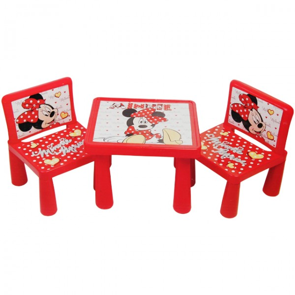 minnie mouse kindersitzgruppe disney kindertisch mit. Black Bedroom Furniture Sets. Home Design Ideas