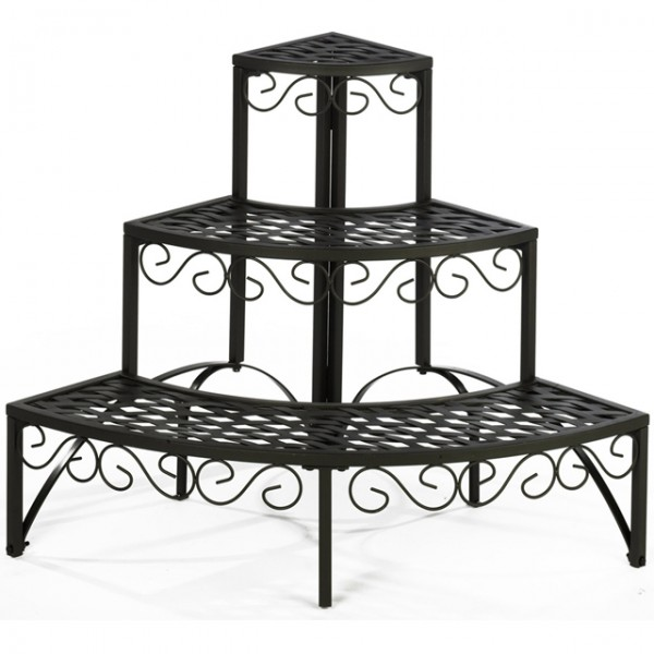 blumentreppe windsor blumenregal rund kr utertreppe ecke pflanzentreppe eisen ebay. Black Bedroom Furniture Sets. Home Design Ideas
