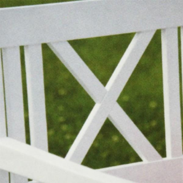 gartenbank l beck 2 sitzer bank holz weiss sitzbank edelstahlbeschl ge profiline ebay. Black Bedroom Furniture Sets. Home Design Ideas