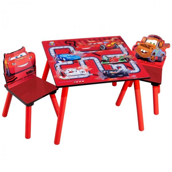 disney cars kindertisch mit 2 st hlen kinderst hle kindersitzgruppe kinderm bel ebay. Black Bedroom Furniture Sets. Home Design Ideas