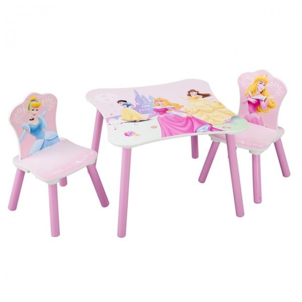 disney princess tisch 2 st hle 60x60cm holz kinder. Black Bedroom Furniture Sets. Home Design Ideas