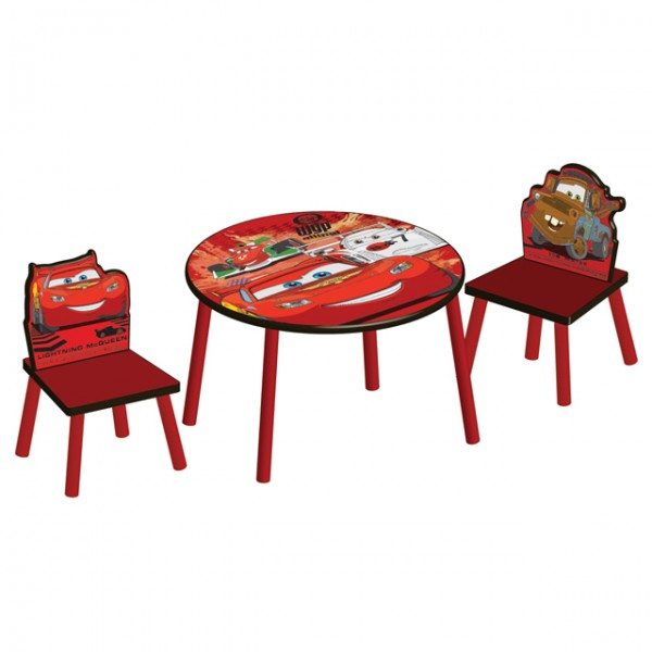 disney cars kindertisch mit 2 st hlen maltisch kinder sitzgruppe sitzgarnitur ebay. Black Bedroom Furniture Sets. Home Design Ideas