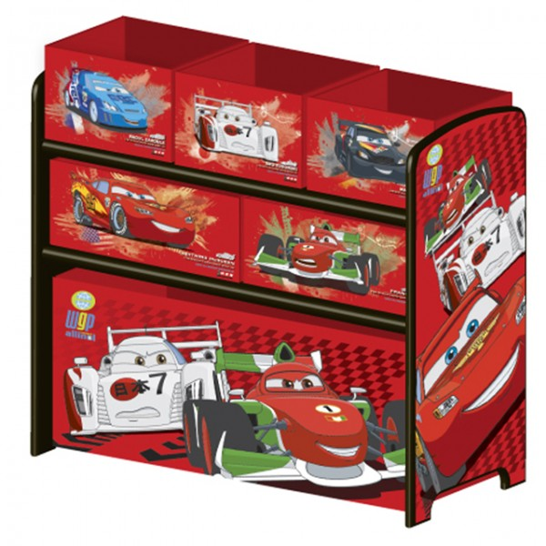 Disney cars kinderregal spielzeugkiste holz for Cars kinderzimmer