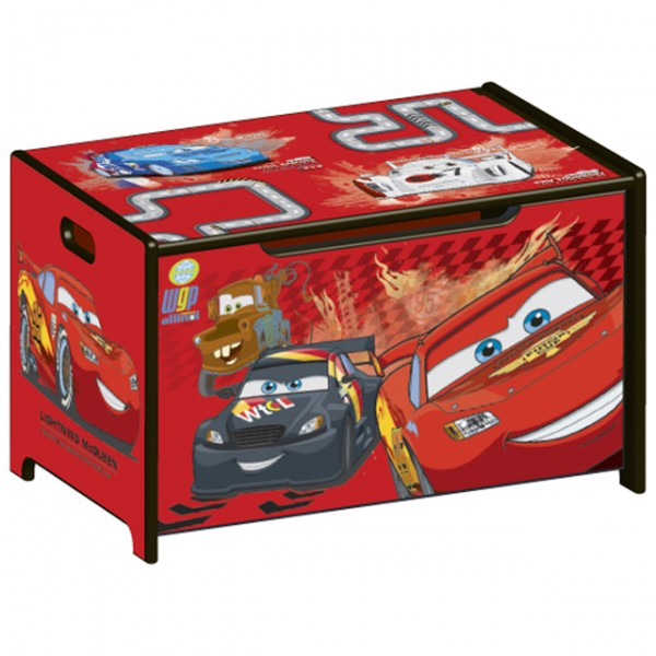 Cars lightning mcqueen toy box cars free engine image - Coffre a jouet cars ...