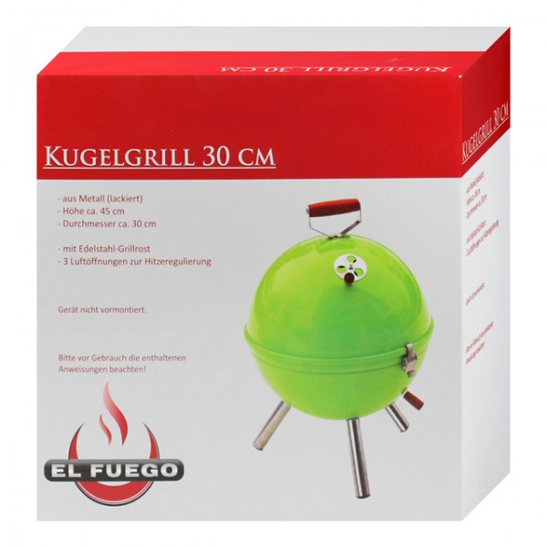 campinggrill kugelgrill gr n 30cm grillen barbecue bbq balkon grill pocketgrill ebay. Black Bedroom Furniture Sets. Home Design Ideas