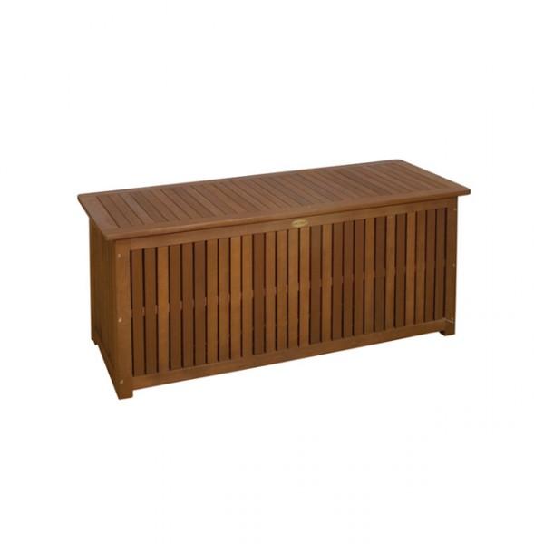 Jago Gartenmobel Erfahrung : Auflagenbox MAILAND Akazie Holz stabile Garten Truhe mit Innentasche