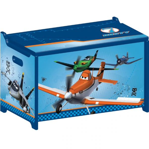 disney planes toy box flugzeug spielzeugkiste aus holz. Black Bedroom Furniture Sets. Home Design Ideas