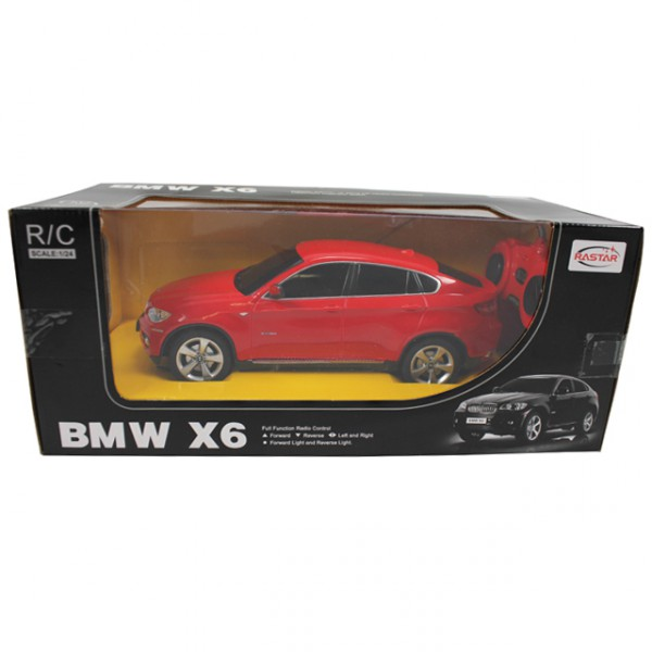 rastar bmw x6 ferngesteuert rc modellauto 1 24 rot modell. Black Bedroom Furniture Sets. Home Design Ideas