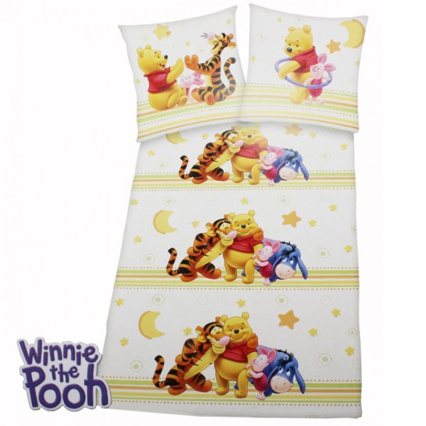 bettw sche winnie pooh ia ferkel tigger baumwolle 135x200 disney kissen decke ebay. Black Bedroom Furniture Sets. Home Design Ideas