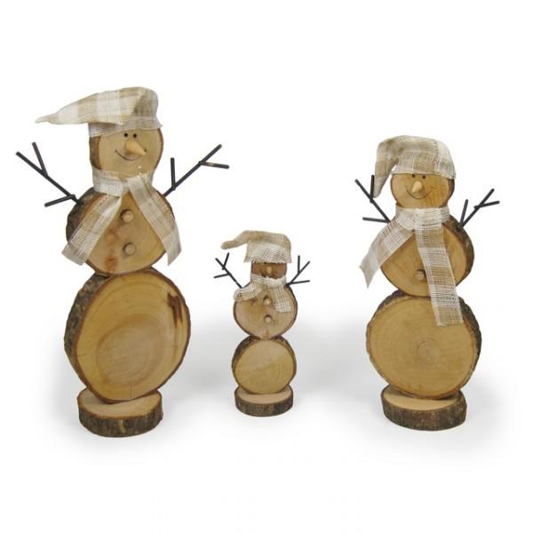 3er set schneemann mit m tze und schal 26cm 22cm 15cm - Weihnachtsdeko figuren ...