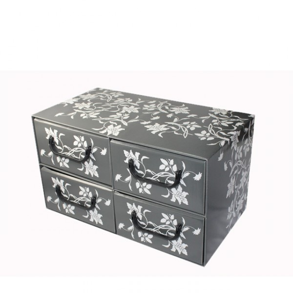 aufbewahrungsbox schubladen 4 blumen design. Black Bedroom Furniture Sets. Home Design Ideas