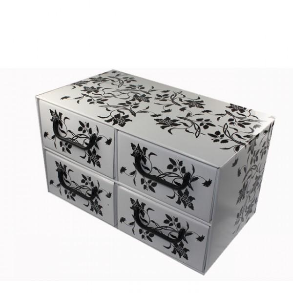 aufbewahrungsbox schubladen 4 blumen design. Black Bedroom Furniture Sets. Home Design Ideas