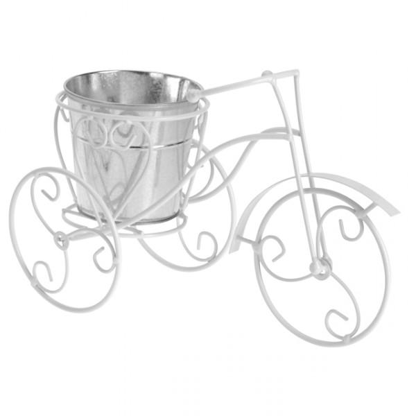 metallfahrrad blumentopf wei schwarz blumenst nder fahrrad deko pflanzfahrrad ebay. Black Bedroom Furniture Sets. Home Design Ideas