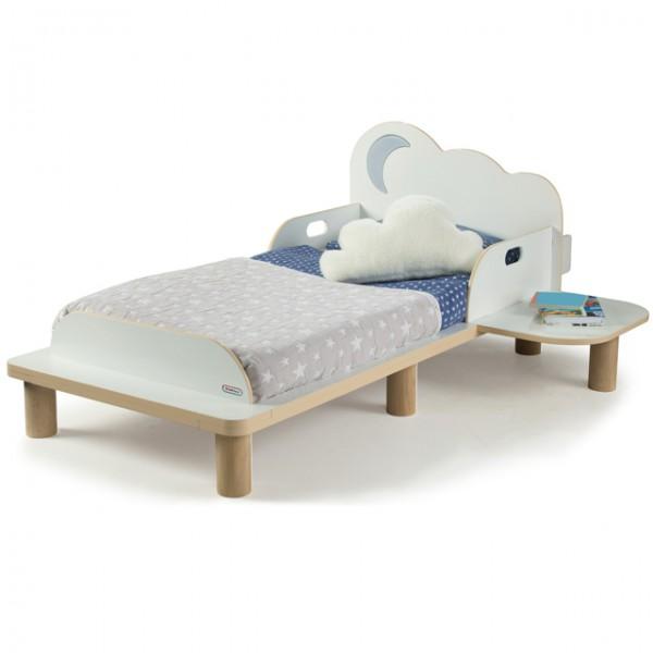 kinderbett starbright toddler bed bett nachtlicht licht sterne mond kinderbett mit nachtisch und. Black Bedroom Furniture Sets. Home Design Ideas