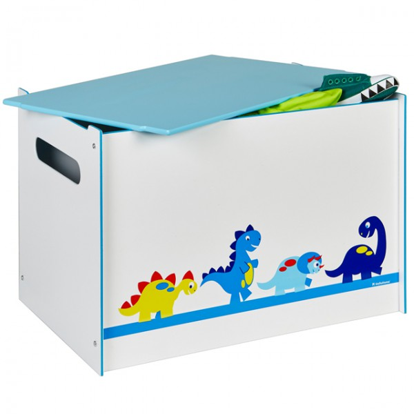 toy box dino spielzeugbox mit griff und deckel holz dinosaurier kiste box aufbewahrungsbox. Black Bedroom Furniture Sets. Home Design Ideas