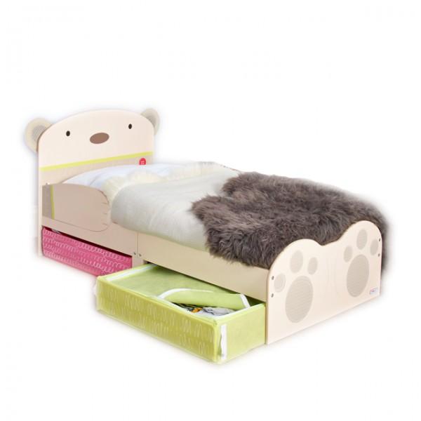 kinderbett b r 140x70 cm aufbewahrung stoff schubladen bett kinderzimmer schlafen jugendbett. Black Bedroom Furniture Sets. Home Design Ideas