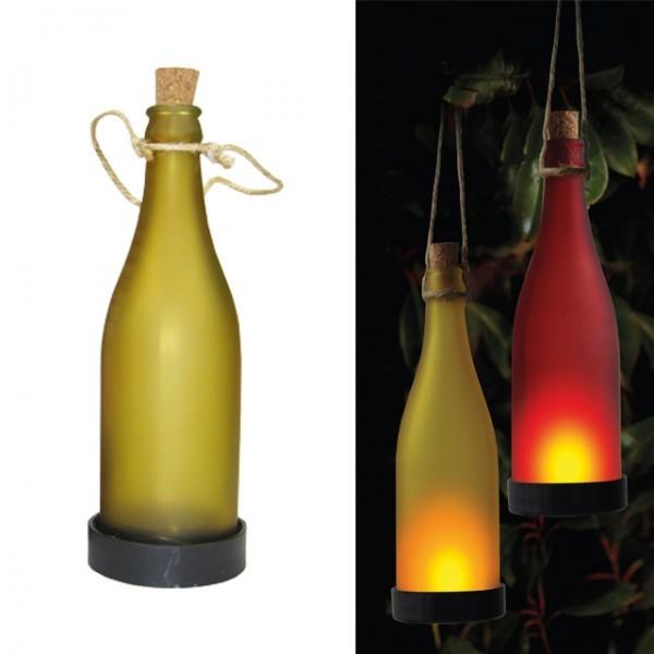 solar flaschenleuchte gelb gartenlaterne solarleuchte led. Black Bedroom Furniture Sets. Home Design Ideas