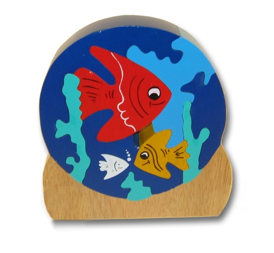 woodbrix 3d holzpuzzle aquarium kinderpuzzle puzzle holz holzspielzeug spiele und spielzeug. Black Bedroom Furniture Sets. Home Design Ideas