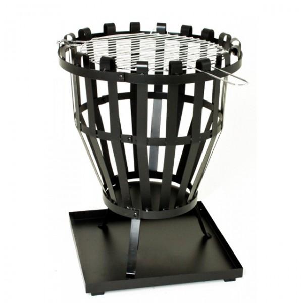 feuerkorb mit grillrost feuerstelle grill feuerschale 46cm. Black Bedroom Furniture Sets. Home Design Ideas
