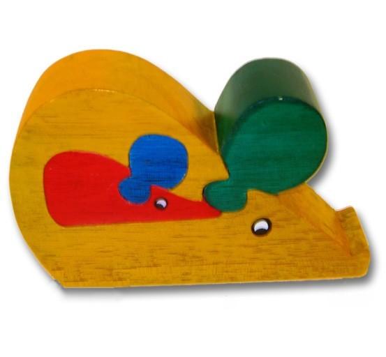 woodbrix 3d holzpuzzle maus mit baby kinderpuzzle puzzle holz holzspielzeug spiele und. Black Bedroom Furniture Sets. Home Design Ideas