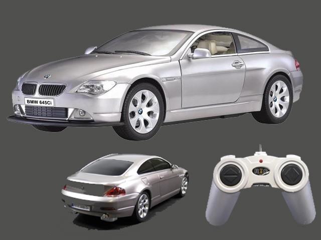 bmw 645 ci ferngesteuert rc modellauto silber 1 24 spiele. Black Bedroom Furniture Sets. Home Design Ideas