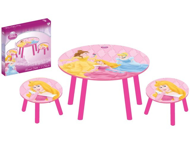 disney princess spieltisch mit 2 hocker maltisch. Black Bedroom Furniture Sets. Home Design Ideas
