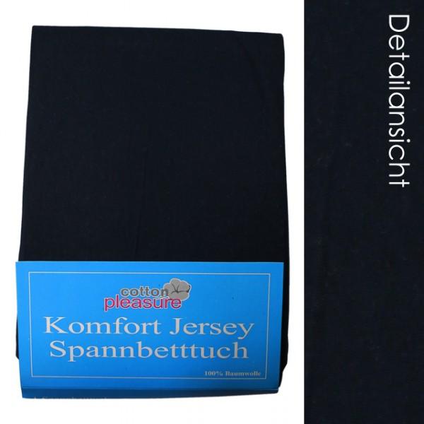jersey spannbettlaken 140x200 dunkelblau 2 spannbetttuch betttuch m bel wohnen und lifestyle. Black Bedroom Furniture Sets. Home Design Ideas