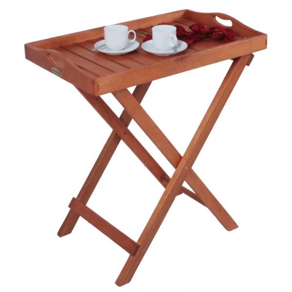 Beistelltisch Holz Klappbar ~   Tabletttisch Hartholz Servierwagen Eukalyptus Holz Gartenmöbel Holz