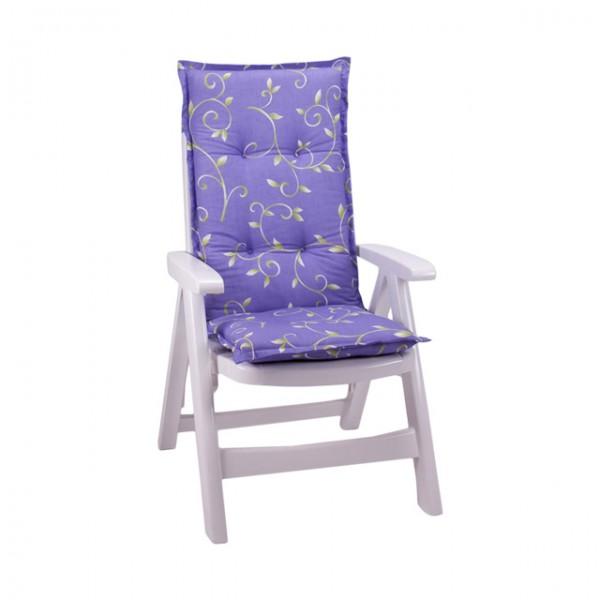 hochlehner auflage laura 6cm kissen polster gartenstuhl blumen lila gr n haus und garten. Black Bedroom Furniture Sets. Home Design Ideas