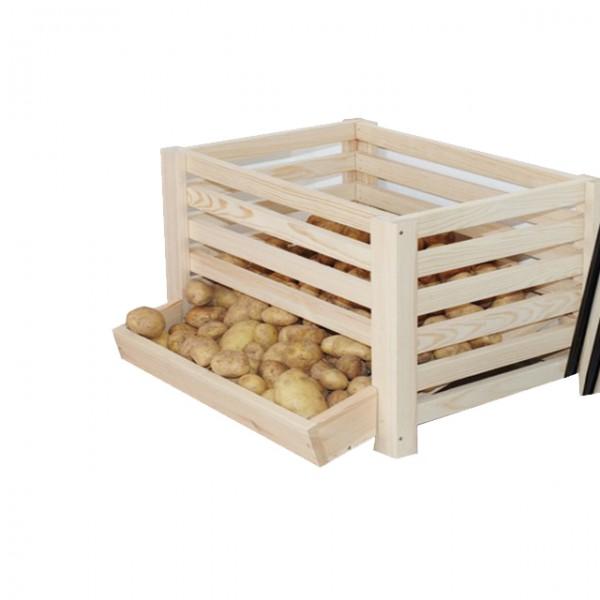 kartoffelhorde f r 50kg kartoffeln lagern kartoffelbox kartoffelkiste holz k che und haushalt. Black Bedroom Furniture Sets. Home Design Ideas