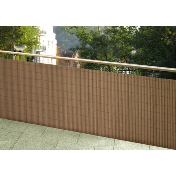 wetterfester balkonsichtschutz holz optik vollkunststoff. Black Bedroom Furniture Sets. Home Design Ideas