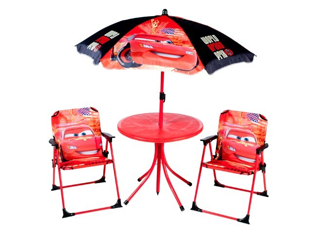 disney cars m bel set kindertisch mit st hle und sonnenschirm sitzgruppe kinder gartenm bel. Black Bedroom Furniture Sets. Home Design Ideas