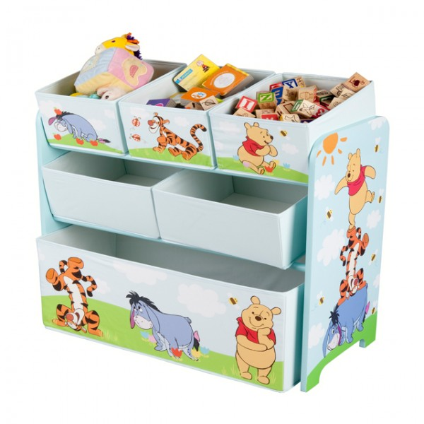 disney winnie pooh multi toy organizer f r spielzeug aus holz mit textilschubladen. Black Bedroom Furniture Sets. Home Design Ideas