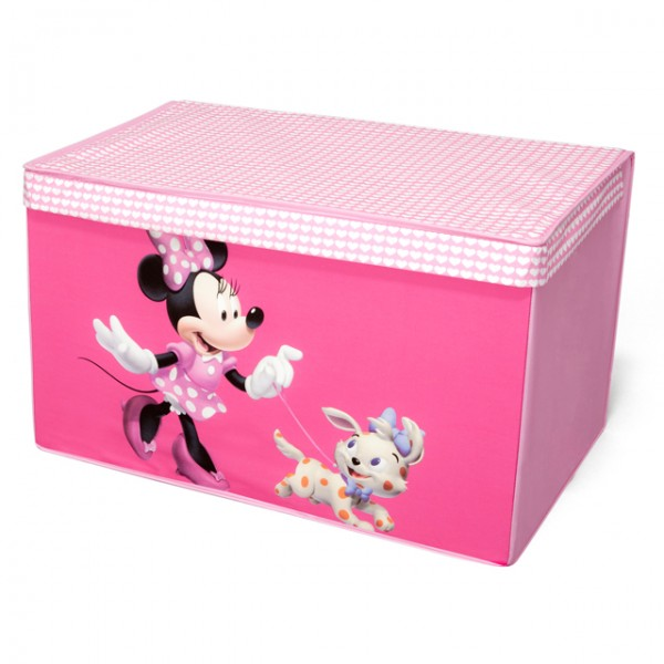 disney minnie mouse toy box canvas aufbewahrungsbox spielzeugkiste f r kinder baby und kind. Black Bedroom Furniture Sets. Home Design Ideas