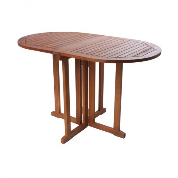 klapptisch rom gartentisch 120 x 70 cm oval eukalyptus holz balkontisch haus und garten. Black Bedroom Furniture Sets. Home Design Ideas